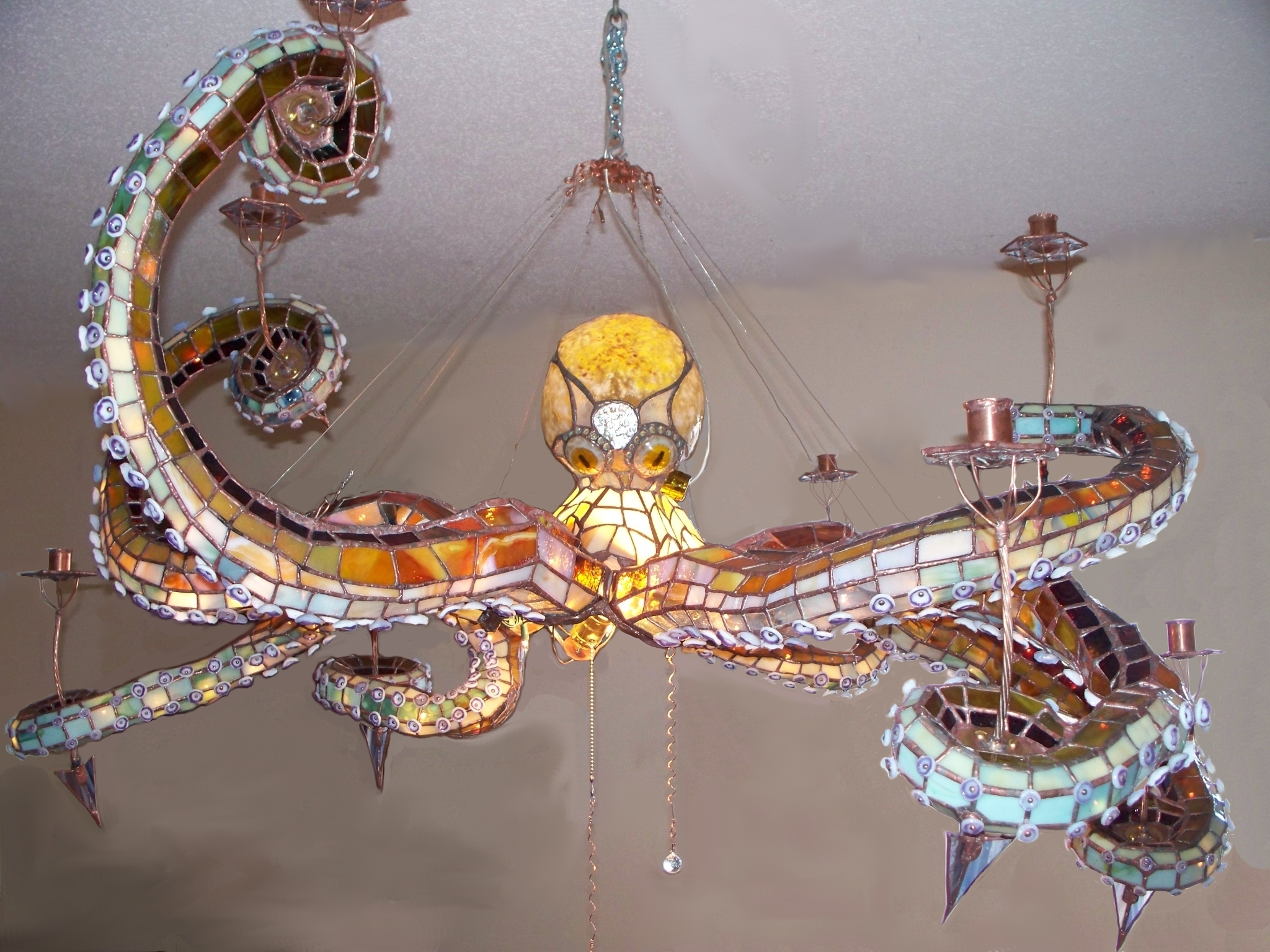 OCTOPUS CHANDELIERS masonscreations